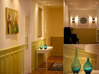 Entrée appartement haussmannien Couloir, entrée, escaliers classiques par PATRICIA FRANCOIS Classique