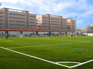 Vestuario y campo de futbol San Gregorio B Estadios de miguel cosín