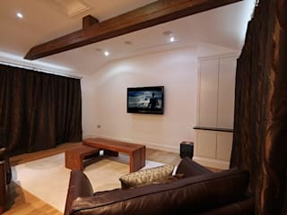 North Yorkshire Cinema Room Inspire Audio Visual Ruang multimedia: Ide desain, inspirasi & gambar