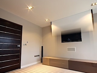 North Yorkshire Home Automation, Lighting and Media Installations 모던스타일 미디어 룸 by Inspire Audio Visual 모던