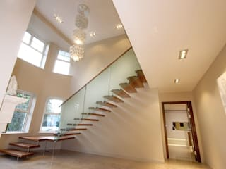 North Yorkshire Home Automation, Lighting and Media Installations Inspire Audio Visual Koridor & Tangga Modern