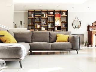 I ♥ GRAY :: Maresa's living room Spazio 14 10 di Stella Passerini Salas de estilo moderno