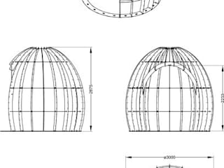 gazebo:  in stile  di CHRISTIAN THEILL DESIGN
