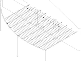 pergola:  in stile  di CHRISTIAN THEILL DESIGN