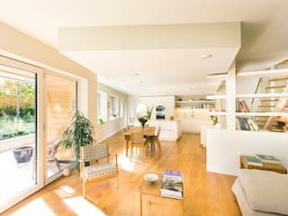 Cheltenham Passivhaus:  Living room by Seymour-Smith Architects