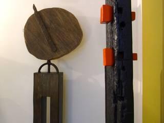 """"""" der zeit voraus 2014 """" -  Kunstobjekt aus Holz \ Stahl: modern  von bernd kohl - objekte in holz und stahl,Modern"""