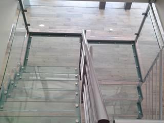 Escalier avec marches en verre par Escalissime Moderne