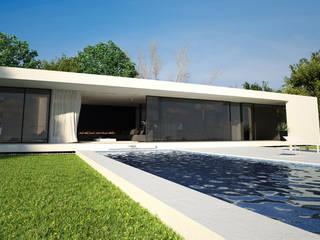 Exterior : Casas de estilo moderno de DUE Architecture & Design