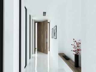 Vestíbulo: Casas de estilo moderno de DUE Architecture & Design