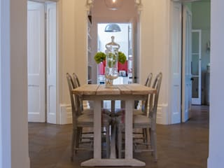 AG175_TwickenhamApartment Morgan Harris Architects Ltd Eclectic style dining room