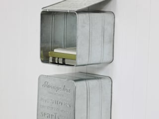 Metal Wall Storage Boxes: industrial Living room by Loop the Loop