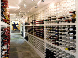 Wine Cellar, Regents Park Interior design by Jeff Kahane + Associates