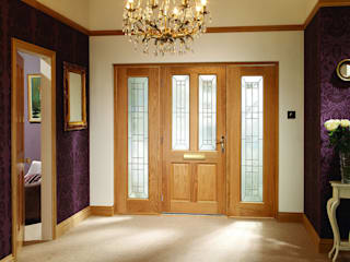 Malton Diamond Double Side Panel Door Set:   by Modern Doors Ltd