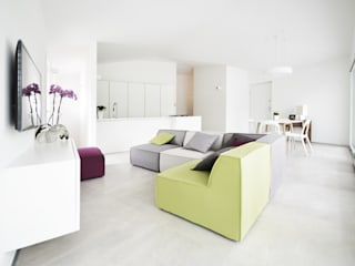 house studio: living workshop Modern Living Room by francesco valentini architetto Modern