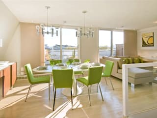 PROJECT: Penthouse in London's West-End モダンデザインの ダイニング の Anna Hansson Design モダン