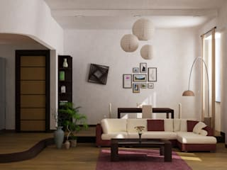 Private Apartment Soggiorno moderno di nA Studio Moderno