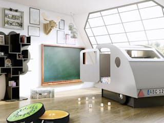 KIDS BEDROOM CARAVAN BED in White de Cuckooland Moderno