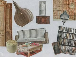 Planche d'inspiration, pièce à vivre : salon / cuisine ouverte:  de style  par Nelly Pansier Décoratrice d'Intérieurs