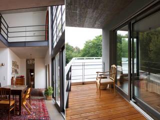 Gartenhofhäuser Audorfstraße 4-8:  Terrasse von Langheinrich + Manke