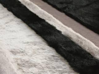 Natural leather and fur rugs Miyabi casa