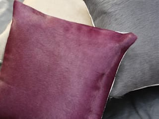 Almohadones de cuero y piel natural de Miyabi casa