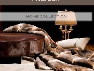 Natural fur throws and cushions Miyabi casa