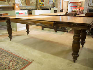 Large antique extending dining table: classic  by Brown's Antiques Billiards and Interiors, Classic
