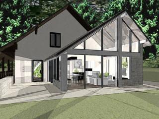 Création d'une extension séjour et cuisine agence concept decoration Balcon, Veranda & Terrasse modernes
