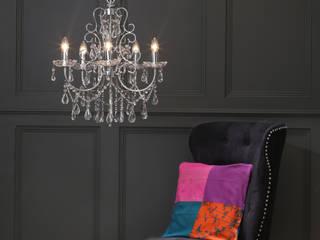 Madonna 5 Light Chandelier in Chrome: classic Bedroom by Litecraft Group Ltd