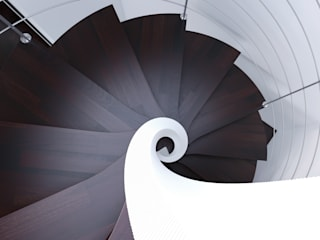 Escalera helicoidal de madera de Enesca