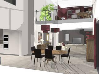 Intégration de meubles classiques dans une maison contemporaine agence concept decoration Maisons classiques