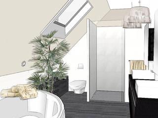 suite parentale élégante: Chambre de style  par agence concept decoration