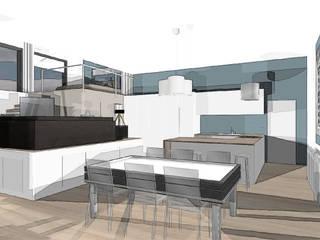 Aménagement d'un LOFT dans une ancienne salle de danse agence concept decoration Maisons industrielles