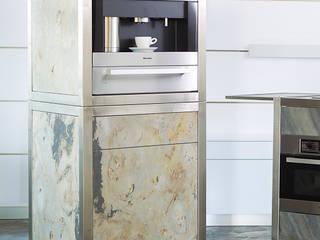 Mobile Küche für das Büro: moderne Küche von Wohnwert Innenarchitektur