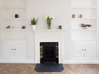 Oakhill Court, Putney Ardesia Design Ruang Keluarga Gaya Rustic