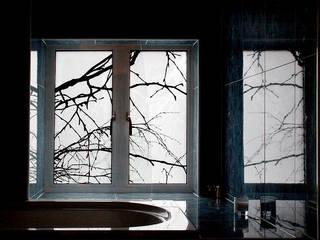 Beech pair: modern Bathroom by rachel welford