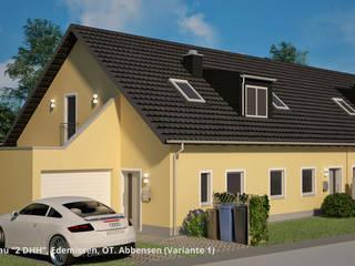 Neubau von 2 DHH mit 4 Whg., Architektur - Edemissen, OT. Abbensen:  Häuser von GID│GOLDMANN - Innenarchitekt in Sehnde