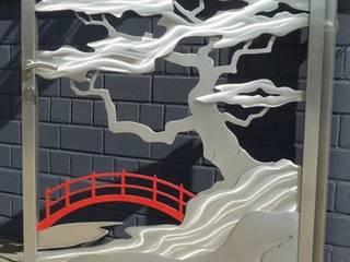 Edelstahl Atelier Crouse: Jardines modernos: Ideas, imágenes y decoración Metal Metálico/Plateado