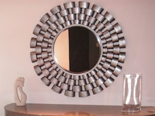 Espejo lacado en plata envejecida modelo: 2014CB:  de estilo  de LUXURYLOFT.ES