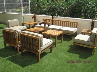 Mobiliario de iroko:  de estilo  de CARPINTERIA LATORRE