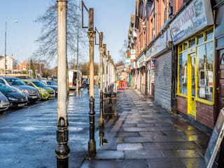 Lapwing Lane Arcade Industrial style shopping centres by Pride Road Industrial