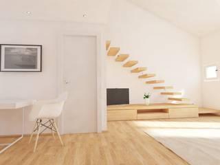 Living Ingresso, Corridoio & Scale in stile moderno di aDC architetto Davide Conconi Moderno