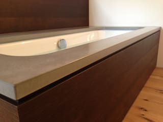 Sichtbeton Badelemente Duschwannenverkleidung Betonwaschbecken Harr Betondesign