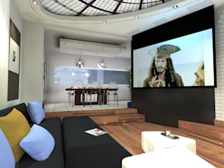 Salones de estilo moderno de L'Espace Carré d'Arts Moderno