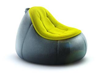 PUFFI armchair: styl , w kategorii  zaprojektowany przez Redo Design Studio Radosław Nowakowski