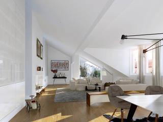 Berlin Penthouse livin: moderne Schlafzimmer von loomilux