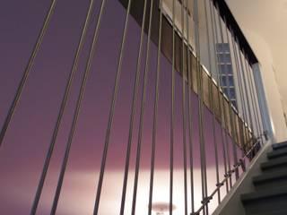 Toujours la verticalité: Couloir et hall d'entrée de style  par Christèle BRIER Architechniques