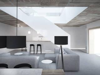 DOM W DRALINACH: styl , w kategorii Salon zaprojektowany przez grupa KMK sp. z o.o