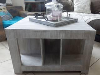 Table de salon multi-rangements en carton:  de style  par La boite à K'Arton