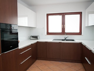 Cocinas minimalistas de Projektowanie Wnętrz Agnieszka Noworzyń Minimalista